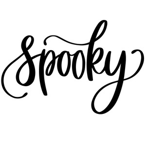 silhouette design store view design 227672 spooky halloween word