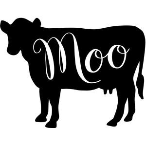 Silhouette Design Store View Design 247072 Farmhouse Cow