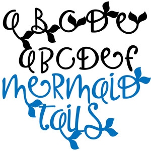 Silhouette Design Store - View Design #259682: zp mermaid tails