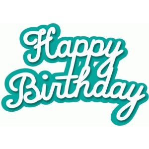 Silhouette Design Store View Design 54082 happy birthday