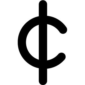Cent Sign Clip Art at Clker.com - vector clip art online ...  White Cent Sign