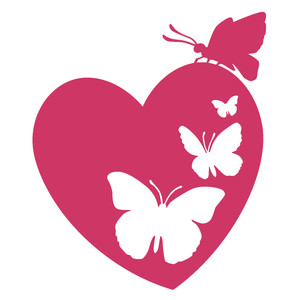 Silhouette Design Store View Design 119492 Butterfly Heart
