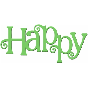 Silhouette Design Store - View Design #27992: 'happy' word art