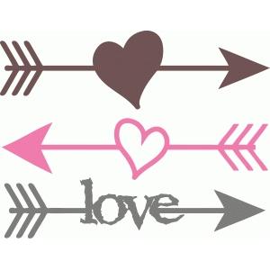Silhouette Design Store View Design 38192 Heart Arrows