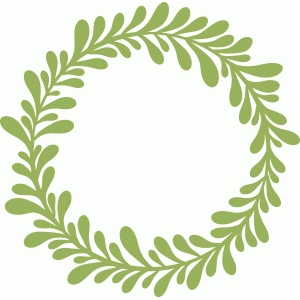 Silhouette Design Store View Design 43792 Leafy Wreath