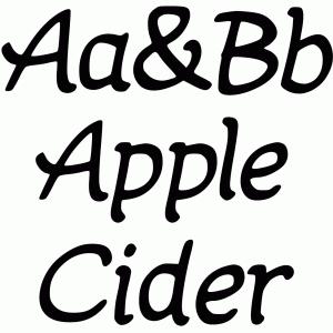 Silhouette Design Store - View Design #100403: apple cider font