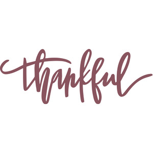 Silhouette Design Store View Design 159823 thankful script