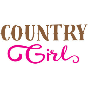 silhouette design store view design 113443 country girl
