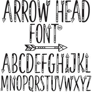 silhouette design store view design 274343 sg arrow head font