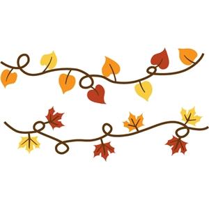 silhouette design store view design 34753 autumn leaf borders