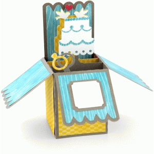 Silhouette Design Store - View Design #56153: a2 box card: wedding