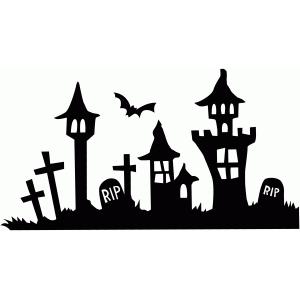 Silhouette Design Store View Design 96553 spooky skyline