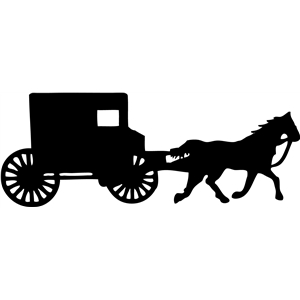 Silhouette Design Store View Design 9563 Amish Buggy