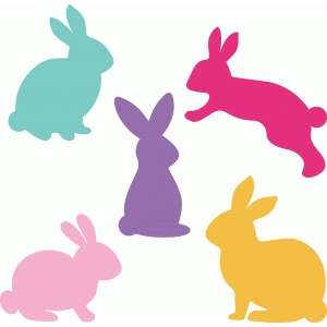 Silhouette Design Store View Design 76573 Easter Bunny Set