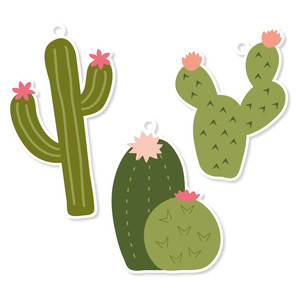 Silhouette Design Store View Design 181693 Cactus Tags