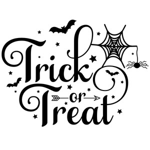 Halloween Trick Or Treat Silhouette.Silhouette Design Store View Design 278393 Trick Or Treat