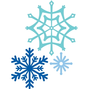 Silhouette Design Store View Design 35504 3 Snowflakes