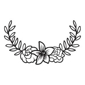 Silhouette Design Store View Design 196114 Floral Laurel