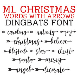 silhouette design store view design 231314 ml christmas words