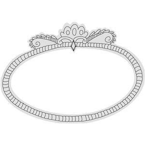 cad9da09368 Silhouette Design Store - View Design  33614  oval flourish frame sketch