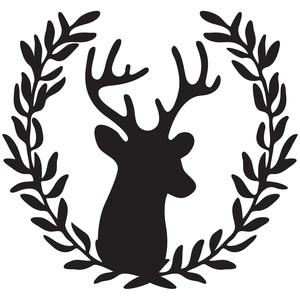 Silhouette Design Store View Design 155524 Deer Wreath