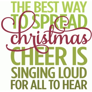 The Best Way To Spread Christmas Cheer.Silhouette Design Store View Design 52234 Best Way To