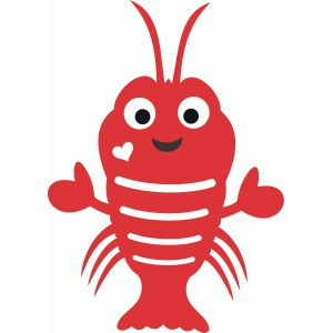 Silhouette Design Store View Design 73834 Cute Lobster