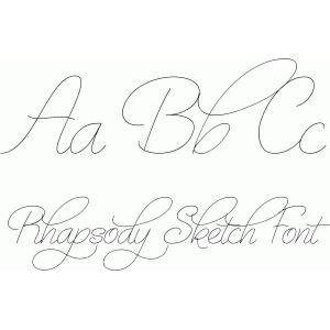 Silhouette Design Store - View Design #76534 Rhapsody Sketch Font