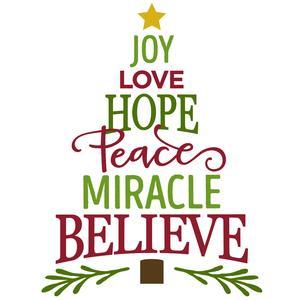 41+ Joy Love Peace Believe Christmas Svg Design