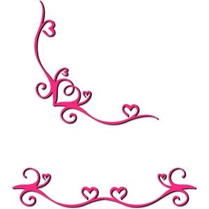 Silhouette Design Store View Design 15744 Flourish Heart Border And Corner,Graphic Design Jobs Sacramento