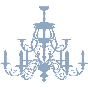 Silhouette design store view design 24644 ornate chandelier aloadofball Image collections