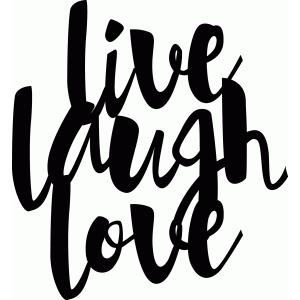 Silhouette Design Store View Design 75944 Live Laugh Love