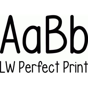 LW Perfect Print Font Design ID #55154