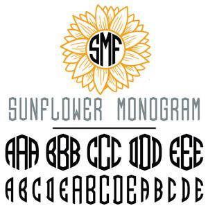 Silhouette Design Store View Design 297664 Sunflower Monogram Font