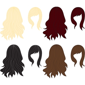 Silhouette Design Store View Design 13374 hair for