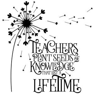 47+ Teachers Plant Seeds Of Knowldege Cut File DXF