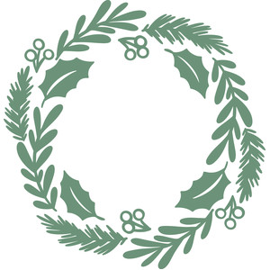 Christmas Wreath Silhouette.Silhouette Design Store View Design 278705 Christmas Wreath