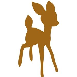 Silhouette Design Store View Design 5505 Baby Deer