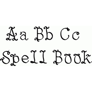 Silhouette Design Store View Design 68405 Spell Book Font