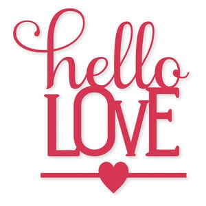 Download Silhouette Design Store - View Design #116025: 'hello love ...