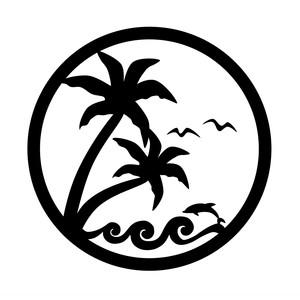 Silhouette Design Store View Design 207725 Beach Scene