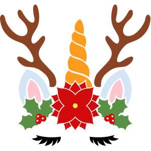 Christmas Unicorn.Silhouette Design Store View Design 278525 Christmas