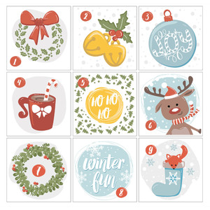 image regarding Advent Calendar Printable titled Silhouette Style Retailer: introduction calendar printable (section 1)