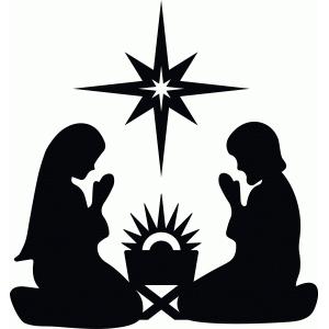 Nativity Star Silhouette silhouette design store - view design #69835 ...