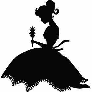 Silhouette Design Store - View Design #76635: pretty girl ...