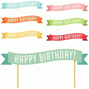 picture relating to Printable Happy Birthday Banner identify Silhouette Structure Retail outlet - Watch Structure #78535: printable