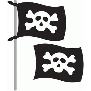 Silhouette Design Store - View Design #55855: pirate flag