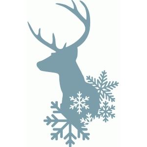 Silhouette Design Store View Design 68965 winter deer