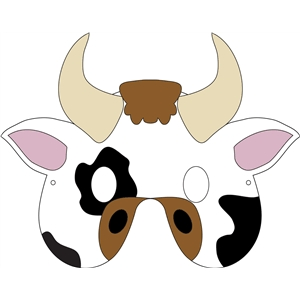 Adorable image inside cow mask printable pdf