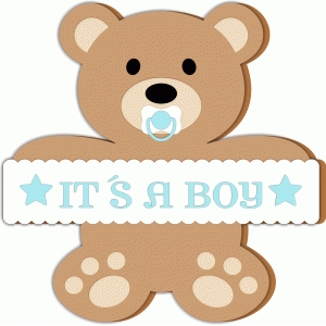 Silhouette Design Store View Design 79295 Baby Bear Boy Card